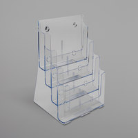 Deflecto 77441 DocuHolder 9 3/8 inch x 7 inch x 13 5/8 inch Clear 4-Compartment Magazine Holder
