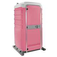 PolyJohn FS3-2012 Fleet Pink Premium Portable Restroom with Recirculating Flush Tank - Assembled