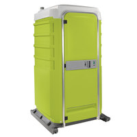 PolyJohn FS3-3004 Fleet Lime Green Premium Portable Restroom with Freshwater Flush Tank - Assembled