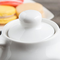 Tuxton BWT-100L White China Teapot Lid - 12/Case