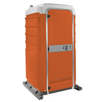 PolyJohn FS3-2011 Fleet Orange Premium Portable Restroom with Recirculating Flush Tank - Assembled