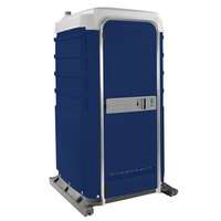 PolyJohn FS3-2016 Fleet Dark Blue Premium Portable Restroom with Recirculating Flush Tank - Assembled