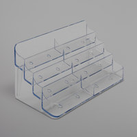 Deflecto 70801 7 7/8 inch x 3 1/2 inch x 3 3/8 inch Clear Plastic 8-Pocket Business Card Holder