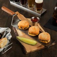 Tablecraft 20001 Better Burger 16 inch x 3 1/2 inch Stainless Steel Spatula Server