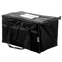 Choice 23 inch x 13 inch x 15 inch Black Insulated Nylon Food Delivery Bag / Pan Carrier