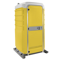 PolyJohn FS3-2009 Fleet Yellow Premium Portable Restroom with Recirculating Flush Tank - Assembled