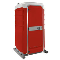 PolyJohn FS3-2013 Fleet Red Premium Portable Restroom with Recirculating Flush Tank - Assembled