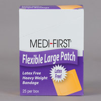 Medi-First 61873 2 inch x 3 inch Woven Adhesive Bandage Patch - 25/Box