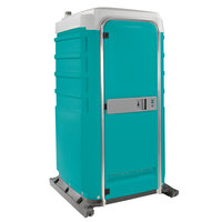 PolyJohn FS3-2000 Fleet Aqua Premium Portable Restroom with Recirculating Flush Tank - Assembled