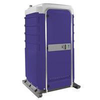 PolyJohn FS3-2010 Fleet Purple Premium Portable Restroom with Recirculating Flush Tank - Assembled