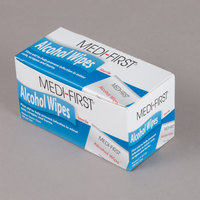 Medi-First 22133 Alcohol Wipes / Prep Pads   - 100/Box