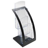 Deflecto 693604 6 3/4 inch x 6 15/16 inch x 13 1/4 inch Black 3-Tier Literature Holder