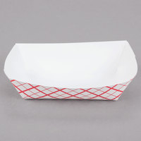 Southern Champion 405 #40 6 oz. Red Check Paper Food Tray - 1000/Case