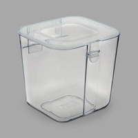 Deflecto 29101CR 4 3/8 inch x 4 inch x 4 3/8 inch Clear Small Stackable Caddy Organizer Container