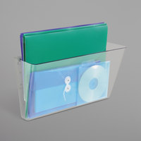 Deflecto 74301 DocuPocket 16 1/4 inch x 7 inch x 4 inch Clear Stackable Wall File