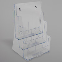 Deflecto 77301 9 1/2 inch x 6 1/4 inch x 12 5/8 inch 3-Compartment Tiered Magazine Size Document Holder