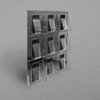 Deflecto 56801 Stand-Tall 27 1/2 inch x 3 3/8 inch x 35 5/8 inch Black 9-Pocket Magazine Size Wall Mount Literature Rack