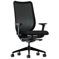 HON N103CU10 Nucleus Series Black Ilira-Stretch M4 Swivel / Tilt Office Chair