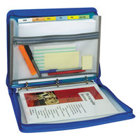 C-Line Products 48115 Bright Blue Zippered Binder with 2 inch Round Rings and Expanding File