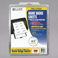 C-Line Products 92377 3 3/8 inch x 2 1/3 inch White Printable Adhesive Name Badge - 200/Pack