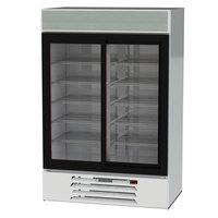 Beverage-Air MMR45HC-1-W MarketMax 52 inch White Two Section Glass Door Merchandiser Refrigerator - 44 Cu. Ft.