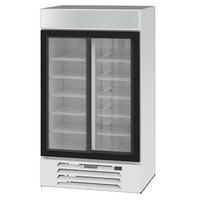Beverage-Air MMR38HC-1-W MarketMax 43 1/2 inch White Two Section Glass Door Merchandiser Refrigerator - 35.37 Cu. Ft.