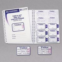 C-Line Products 97009 3 inch x 2 inch Self-Expiring Visitor Name Badges with Registry Log Book