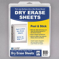 C-Line 57911 8 1/2 inch x 11 inch Peel and Stick Dry Erase Sheet   - 25/Box