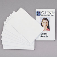 C-Line 89007 2 1/8 inch x 3 3/8 inch White PVC Card   - 100/Pack