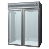 Delfield Stainless Steel SSRRI2-G 74.72 Cu. Ft. Two Section Glass Door Roll In Refrigerator - Specification Line