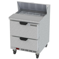 Beverage-Air SPED27HC-B Elite Series 27 inch 2 Drawer Refrigerated Sandwich Prep Table