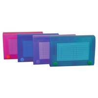 C-Line 58435 3 1/2 inch x 4 1/2 inch x 5 1/4 inch Assorted Color Index Card Case - 4/Pack