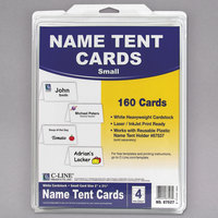 C-Line 87527 2 inch x 3 1/2 inch White Scored Tent Card - 160/Box