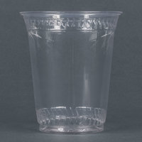 Fabri-Kal Greenware GC12S 12 oz. Customizable Compostable Clear Plastic Cold Cup - 50/Pack