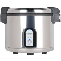 Town 57130 60 Cup (30 Cup Raw) Stainless Steel Electronic Rice Cooker / Warmer - 120V