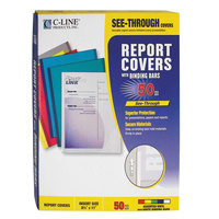 C-Line 32550 8 1/2 inch x 11 inch Assorted Colors Standard Vinyl Report Cover with Binding Bar   - 50/Box