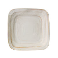 Elite Global Solutions D5PLST Della Terra Melamine Stoneware 5 inch Off White Irregular Square Plate - 6/Case