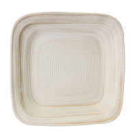 Elite Global Solutions D9PLST Della Terra Melamine Stoneware 9 inch Off White Irregular Square Plate - 6/Case