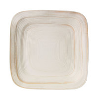 Elite Global Solutions D11PLST Della Terra Melamine Stoneware 11 inch Off White Irregular Square Plate - 6/Case