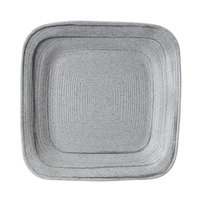 Elite Global Solutions D7PLST Della Terra Melamine Stoneware 7 inch Granite Stone Irregular Square Plate - 6/Case