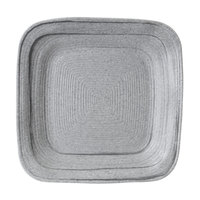 Elite Global Solutions D9PLST Della Terra Melamine Stoneware 9 inch Granite Stone Irregular Square Plate - 6/Case