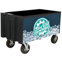 IRP Black Extra Large Super Arctic 080 Mobile 456 Qt. Cooler with Wheels