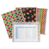C-Line 55610 Zip 'N Go 13 1/8 inch x 10 inch Assorted Color Fashion Reusable Envelope - 3/Pack