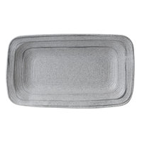Elite Global Solutions D127PLST Della Terra Melamine Stoneware 12 inch x 7 inch Granite Stone Irregular Rectangular Plate - 6/Case