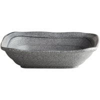 Elite Global Solutions D8BST Della Terra Melamine Stoneware 29 oz. Granite Stone Irregular Square Bowl - 6/Case