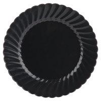 WNA Comet Classicware EcoSense 7 1/2 inch Biodegradable Black Plastic Plate - 18/Pack