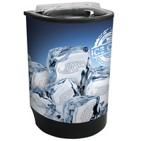 IRP Black Iceberg 500 60 Qt. Insulated Portable Beverage Cooler / Merchandiser with Lid, Drain, and Semicircular Design