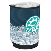 IRP Black Iceberg 3101498 60 Qt. Insulated Portable Beverage Cooler / Merchandiser with Lid, Drain, and Semicircular Design