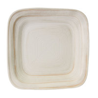 Elite Global Solutions D7PLST Della Terra Melamine Stoneware 7 inch Off White Irregular Square Plate - 6/Case