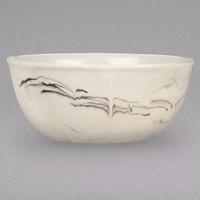 Syracuse China 999533010 Smoke 26 oz. Royal Rideau White / Black Swirl Porcelain Cereal Bowl - 36/Case